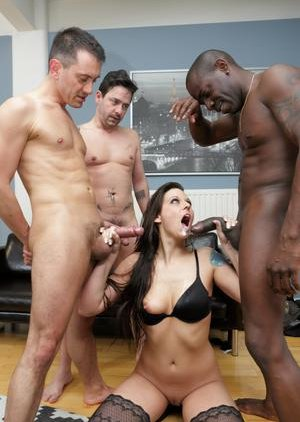 Interracial Gangbang Boobs